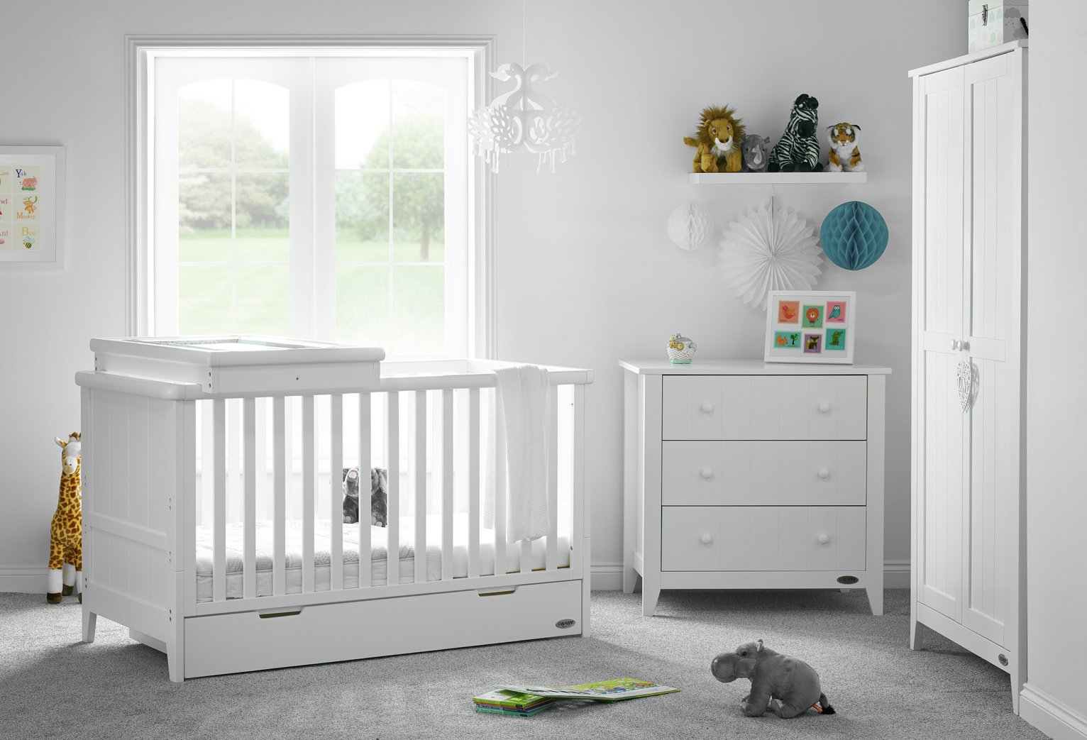 Obaby Belton 3 Piece Room Set - White