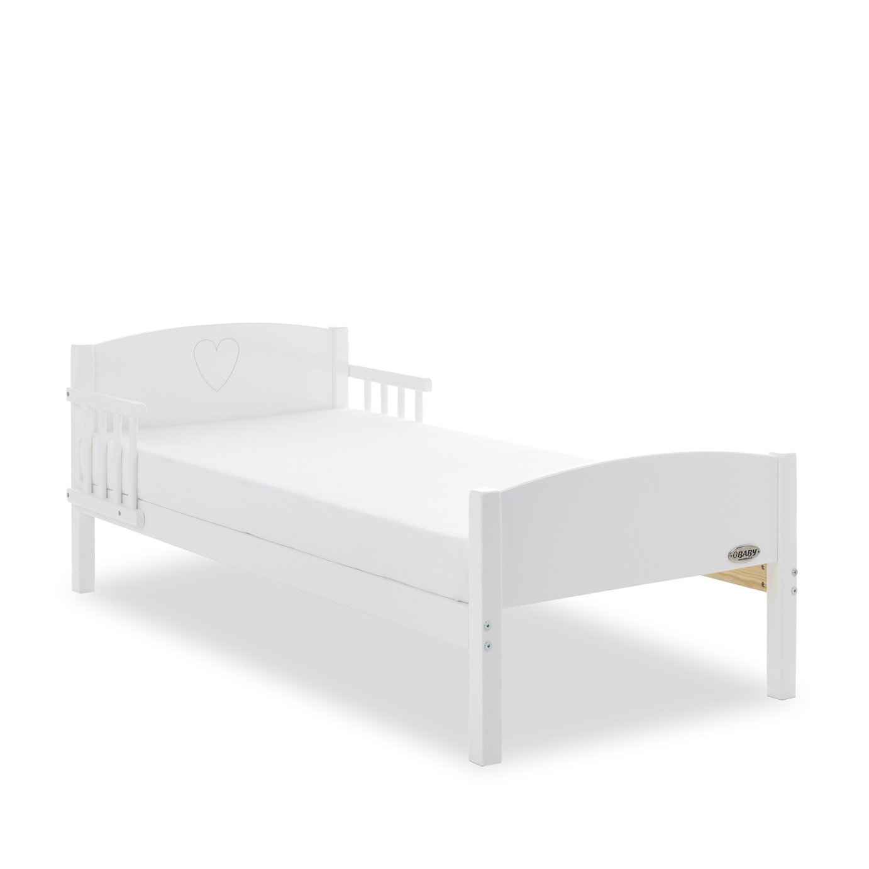 Obaby Star Toddler Bed - White