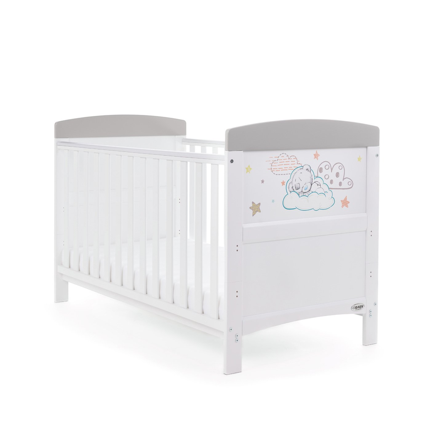 Image of Tiny Tatty Teddy Cot Bed - Grey