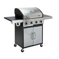 Deluxe 4 Burner Steel Gas BBQ