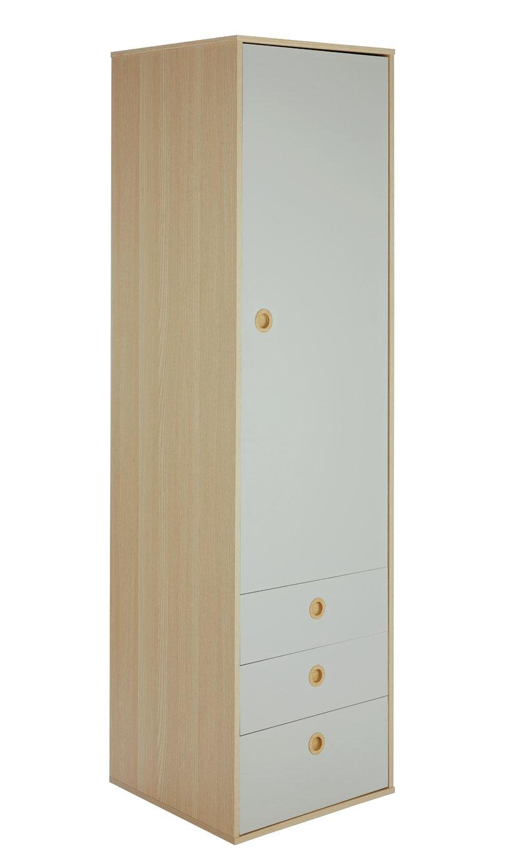 Argos Home Camden 1 Door 3 Drawer Wardrobe - Grey & Acacia