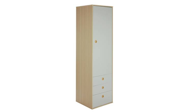 Argos Home Camden 1 Door 3 Drawer Wardrobe - Grey & Acacia
