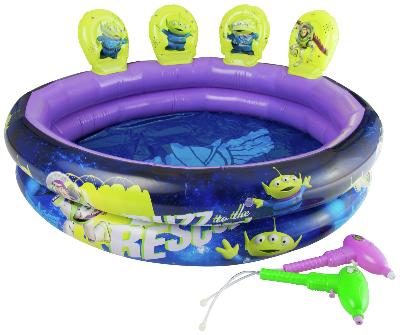 Toy Story Paddling Pool With Targets And Guns