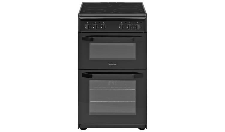 Hotpoint HD5V92KCB Twin Cavity Electric Cooker - Black
