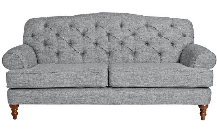 Buy Argos Home Valerie 3 Seater Fabric Sofa Grey Sofas Argos