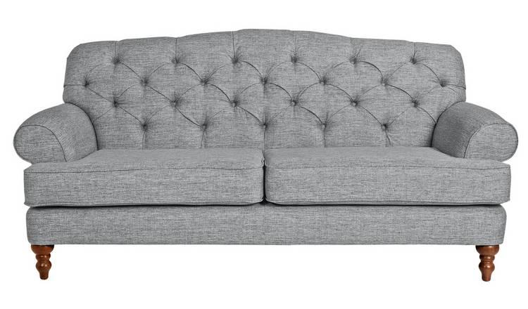 Admirable Buy Argos Home Valerie 3 Seater Fabric Sofa Grey Sofas Argos Machost Co Dining Chair Design Ideas Machostcouk