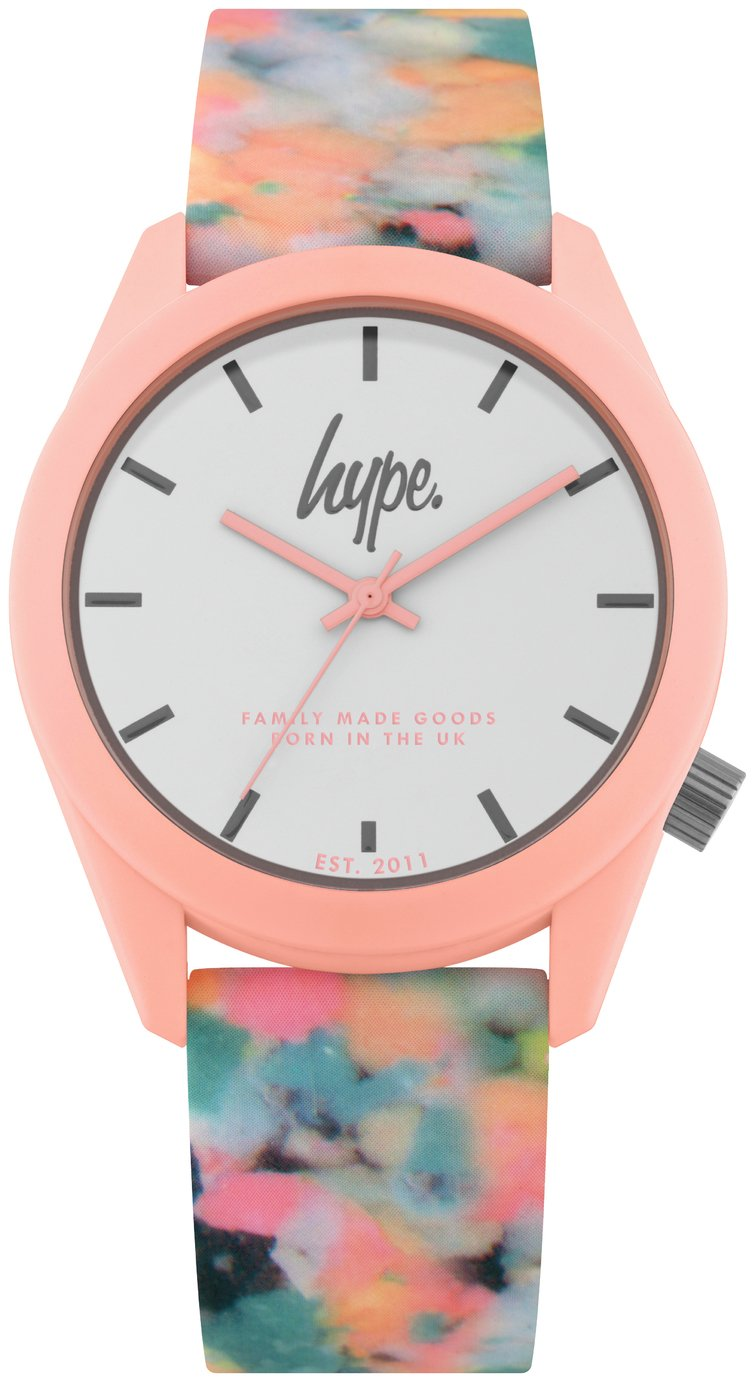 Hype Multicoloured Silicone Strap Watch