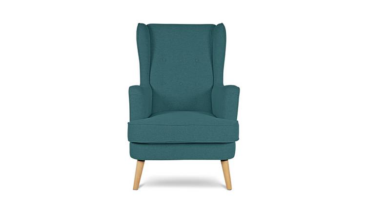Habitat Callie Fabric Wingback Chair - Teal