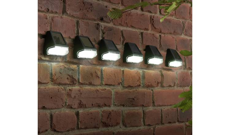 Habitat Set of 6 Black Solar Fence Lights