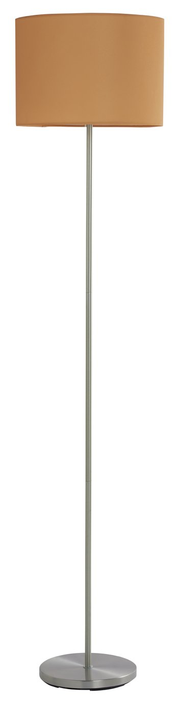 Argos Home Satin Stick Floor Lamp - Mustard