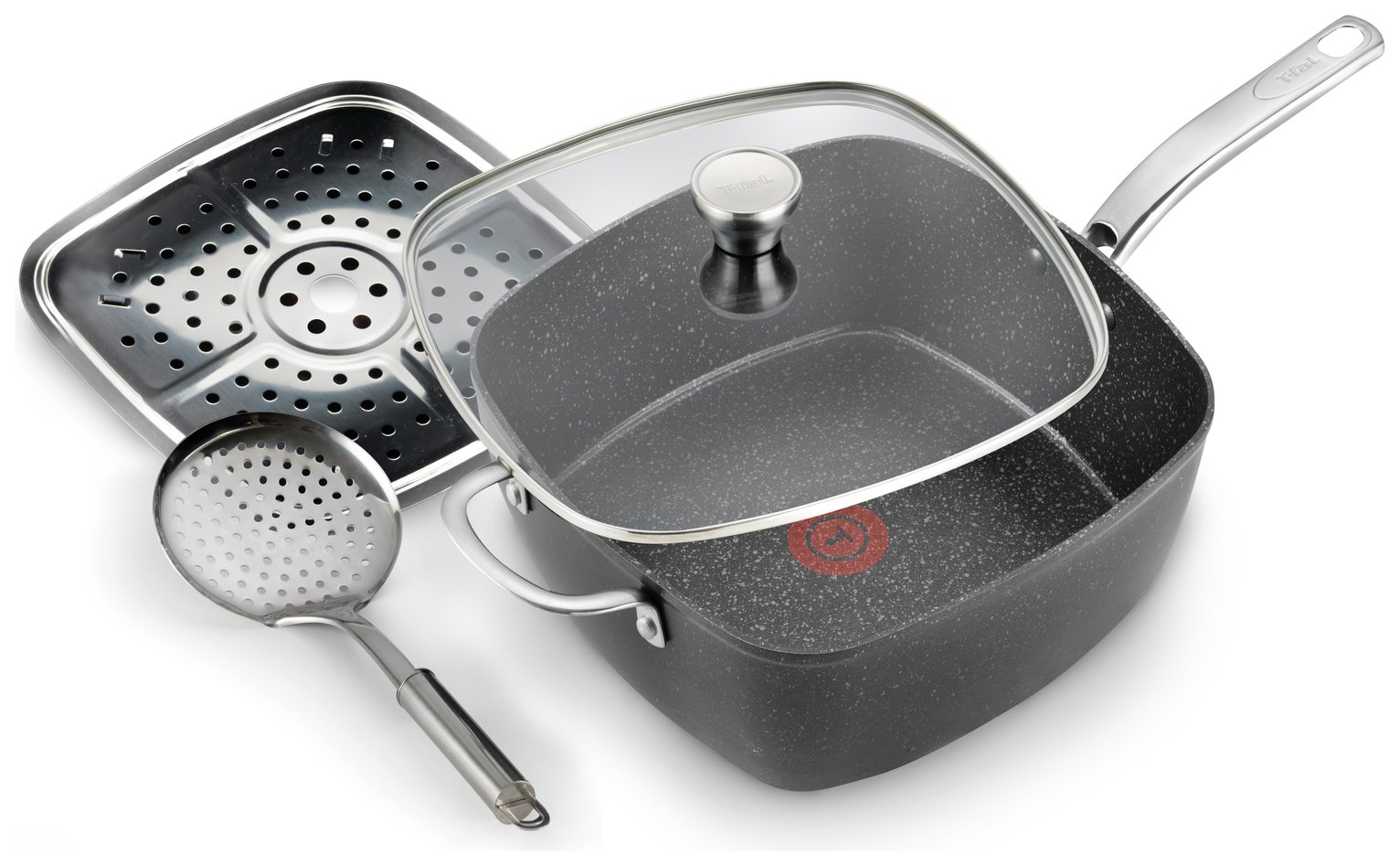 Tefal Titanium Excel All-in-One Square Pan and Glass Lid