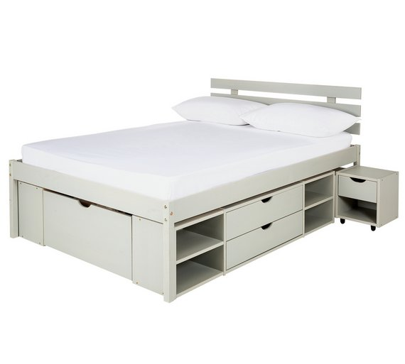 Buy Argos Home Ultimate Storage Grey Small Double Bed Frame Bed