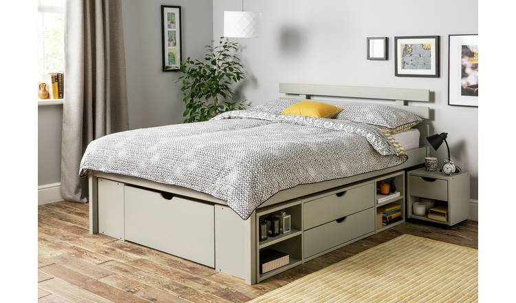 Gray Bed Frame The Office