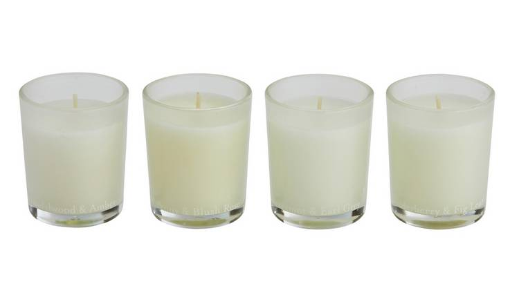 Argos Home Set of 4 Boxed Candles
