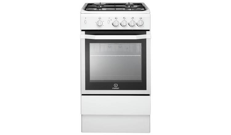 Indesit IS5G1KMW 50cm Single Oven Gas Cooker - White