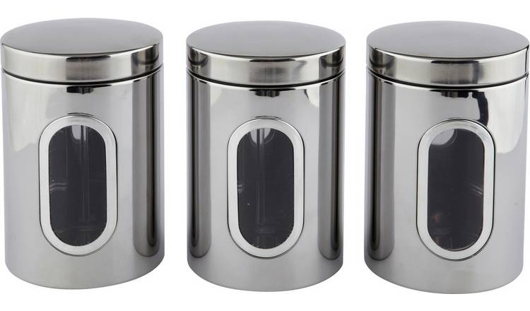 Argos Home Set of 3 Window Canisters