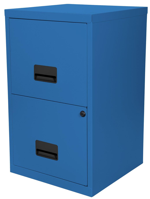 Argos Home 2 Drawer Metal Filing Cabinet - Navy