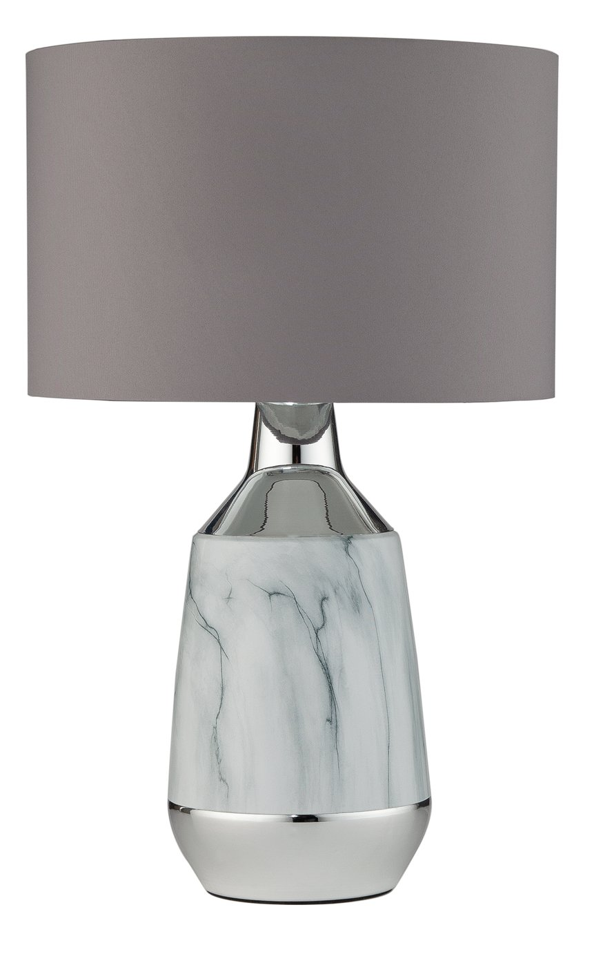 Argos Home Pluto Marble & Chrome Touch Table Lamp