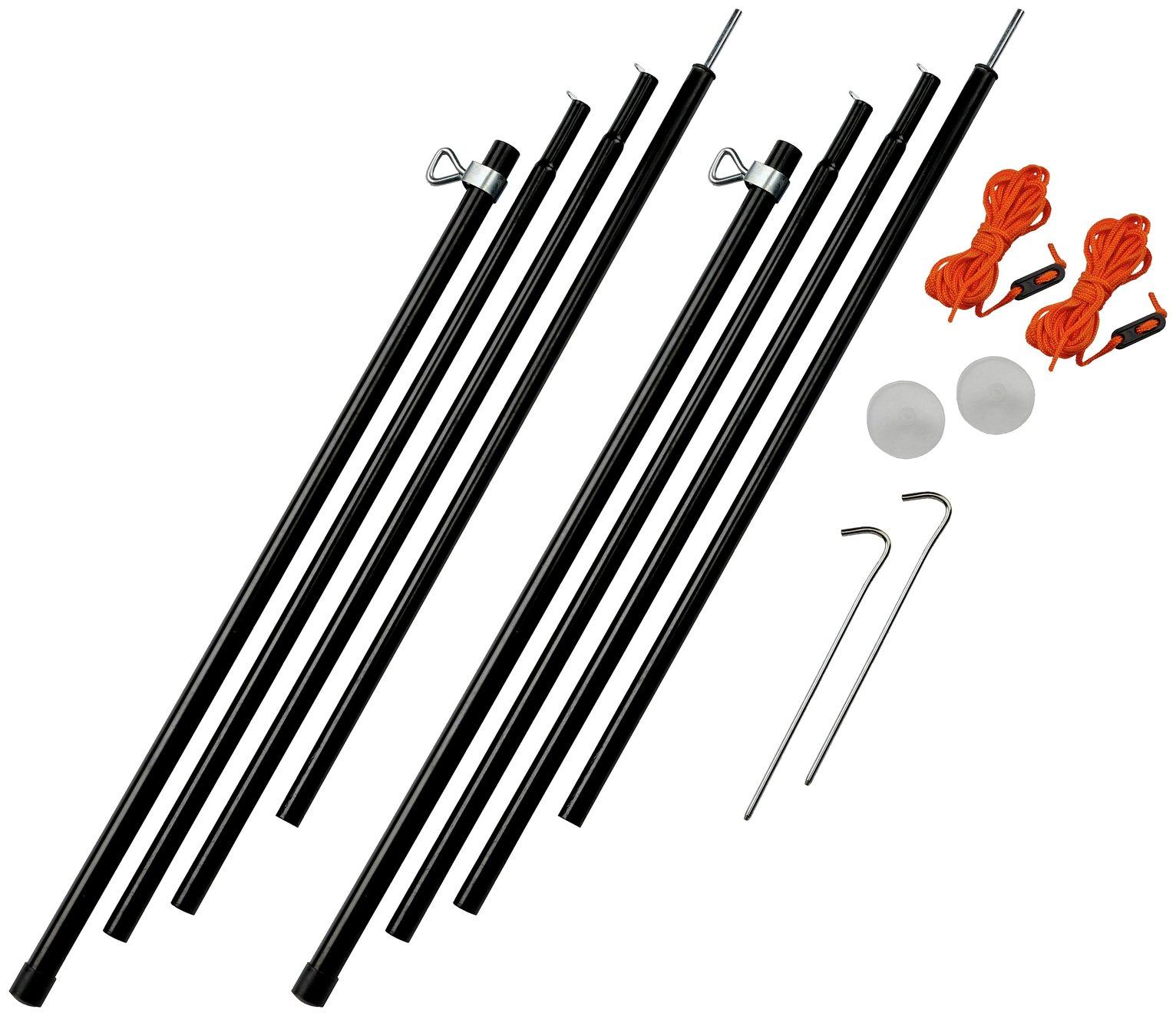 Vango Adjustable Steel Poles - 180-220cm