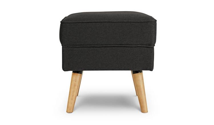 Habitat Callie Fabric Footstool - Charcoal