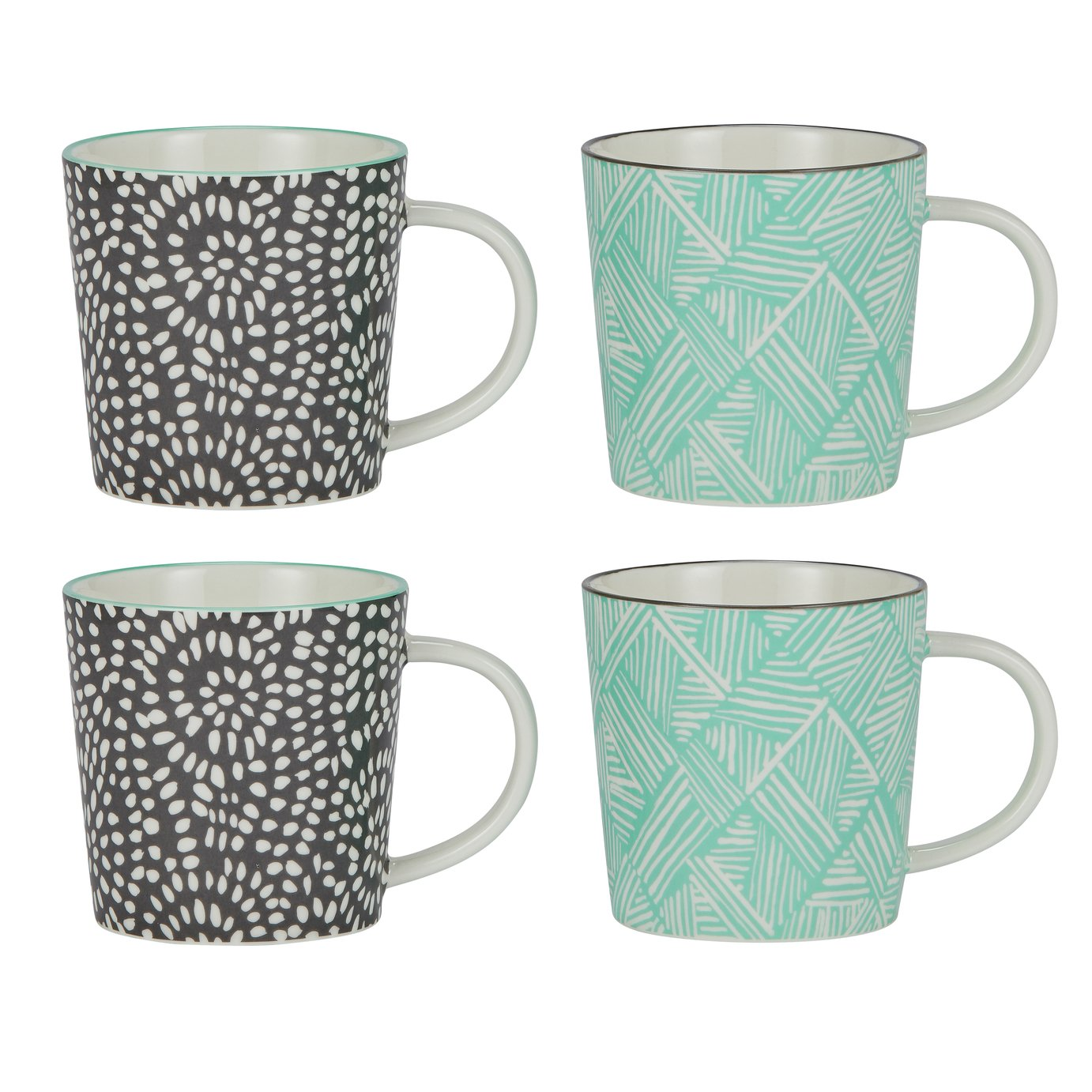 Argos Home Set of 4 Oriental Mugs