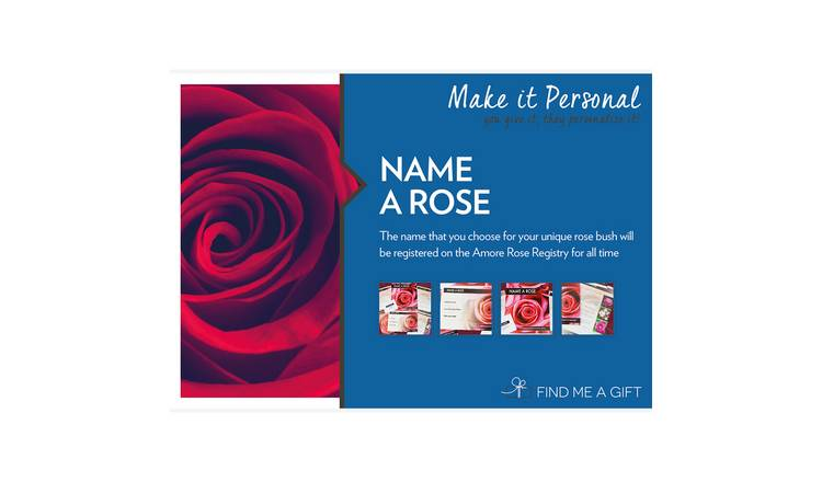 Name A Rose For One Gift Experience