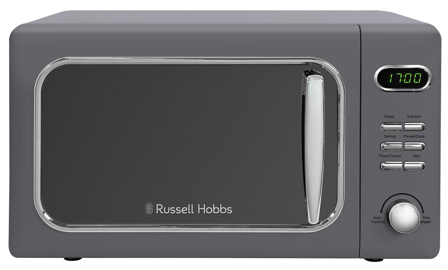 Russell Hobbs 700W Retro Standard Microwave RHMD718G - Grey