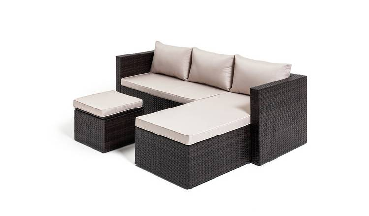Habitat Mini Corner Sofa Set with Storage - Brown