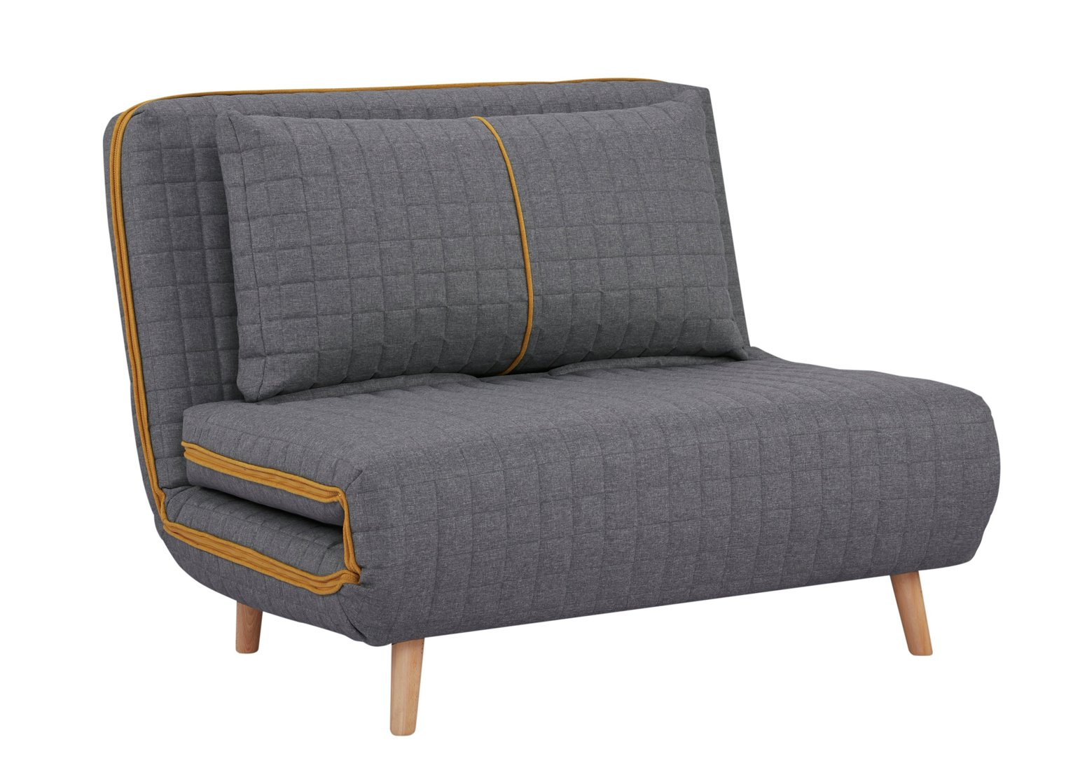 Habitat Roma Small Double Quilted Sofa Bed - Charcoal
