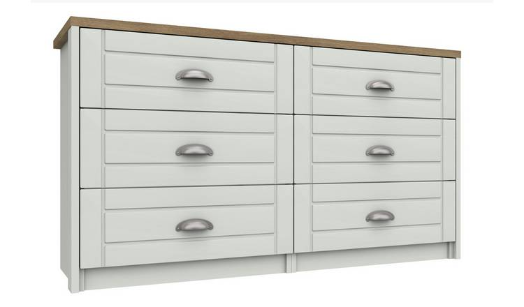 Kielder 3 + 3 Drawer Chest - White
