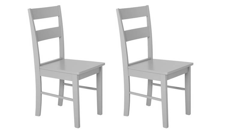 Habitat Chicago Pair of Dining Chairs - Grey