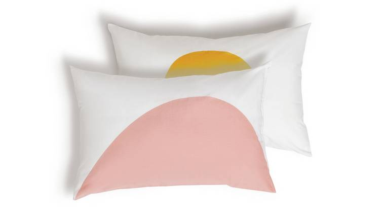 Habitat Esme Cotton Standard Pillowcase Pair - White
