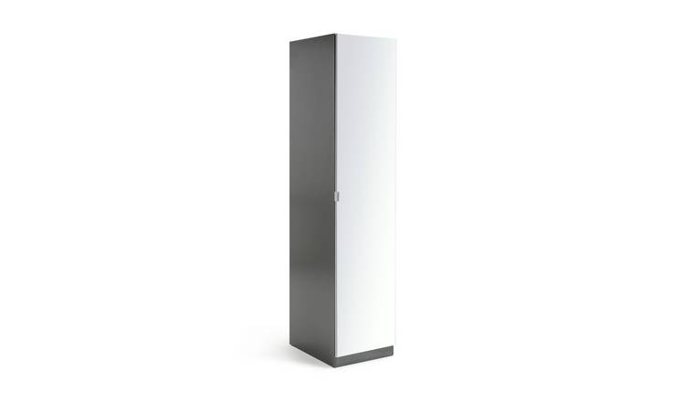 Habitat Munich 1 Door Mirror Wardrobe - Anthracite