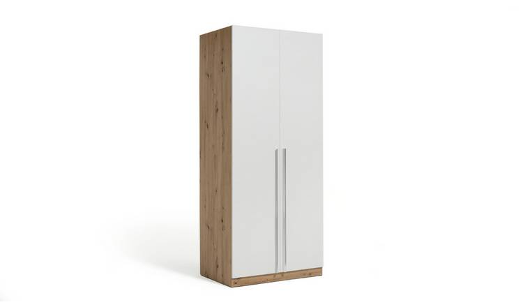 Habitat Munich 2 Door Wardrobe - White & Oak Effect