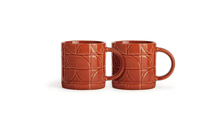 Habitat Espresso Set of 2 Cups - Orange
