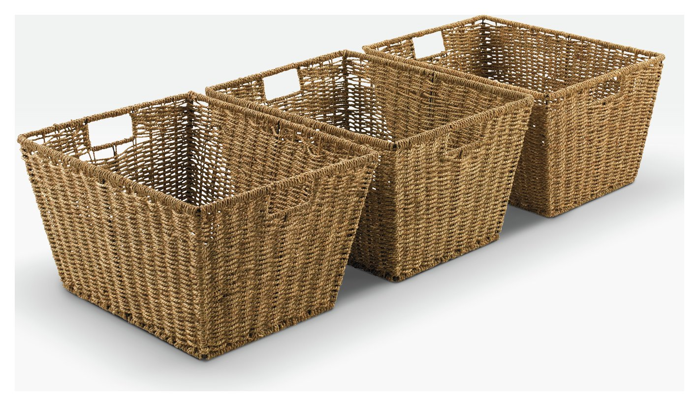 Sale On Argos Home Set Of 3 Large Seagrass Storage Baskets