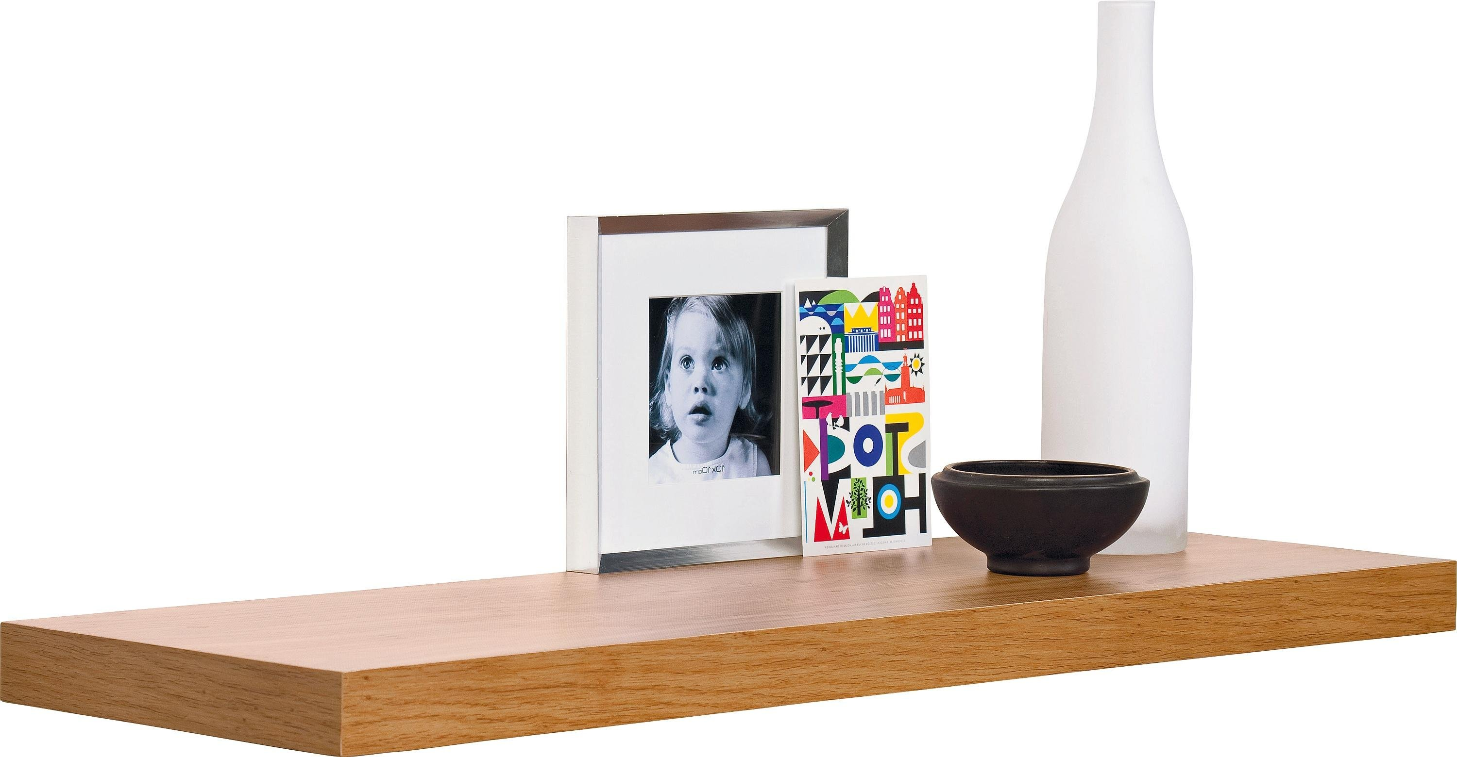 Argos Home Glenmore 80cm Floating Shelf - Oak Effect