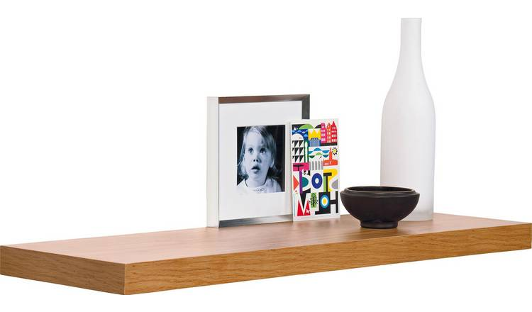 Astounding Buy Argos Home Glenmore 80Cm Floating Shelf Oak Effect Wall Mounted And Floating Shelves Argos Download Free Architecture Designs Embacsunscenecom