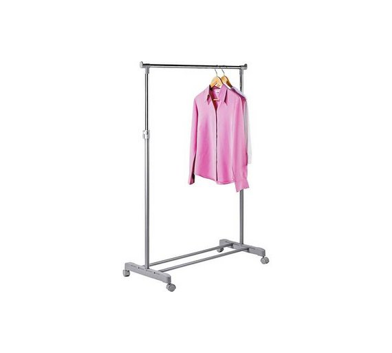 Buy home adjustable chrome plated clothes rail grey hanging home adjustable chrome plated clothes rail grey sisterspd