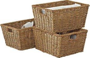 Argos Home Set of 3 Seagrass Storage Baskets - Natural