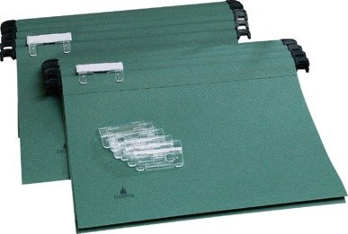 Image of Cathedral Pack of 20 A4 Green Manila Suspension Files
