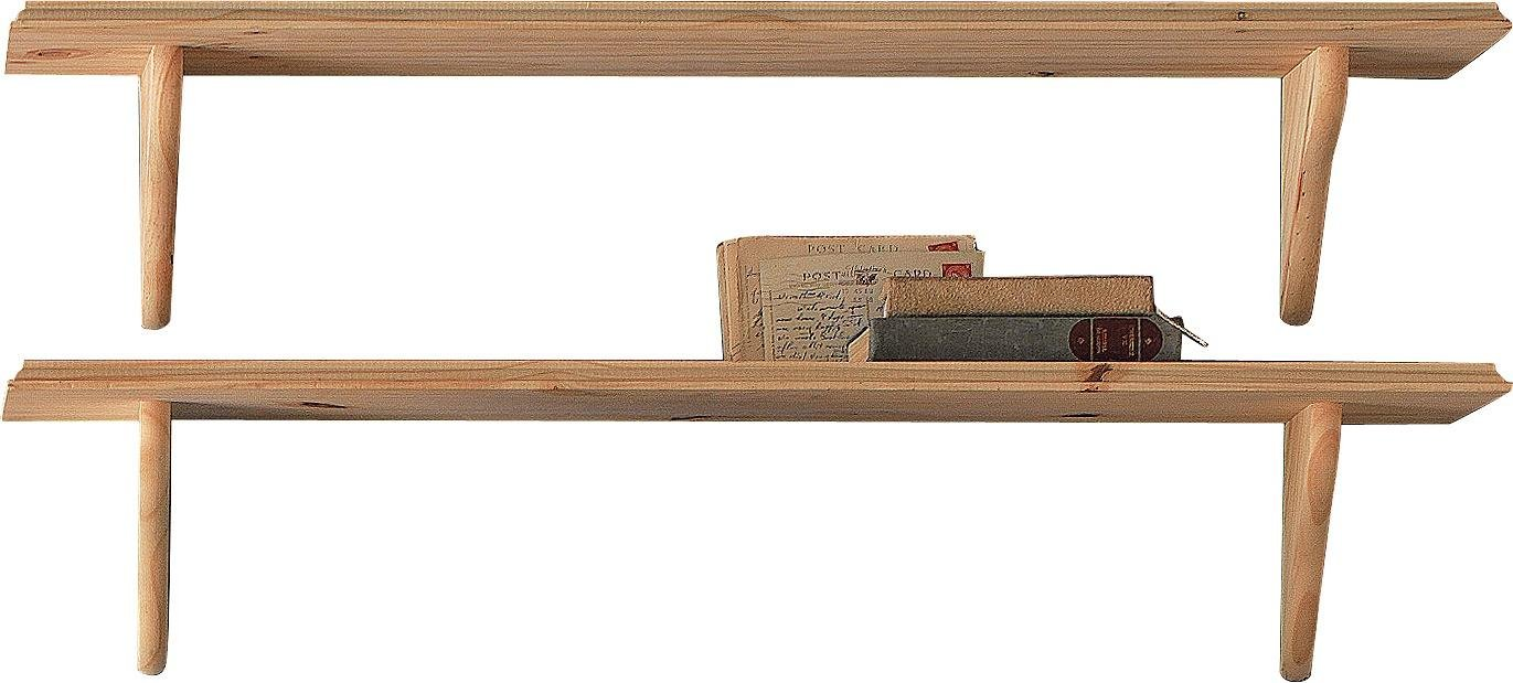 Argos Home 89cm Set of 2 Wooden Shelves - Unfinished Pine