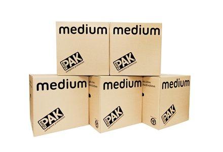 StorePAK Medium Cardboard Boxes - Set of 5