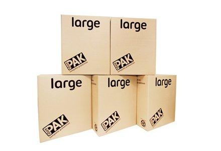 StorePAK Large Cardboard Storage Boxes - Set of 5.