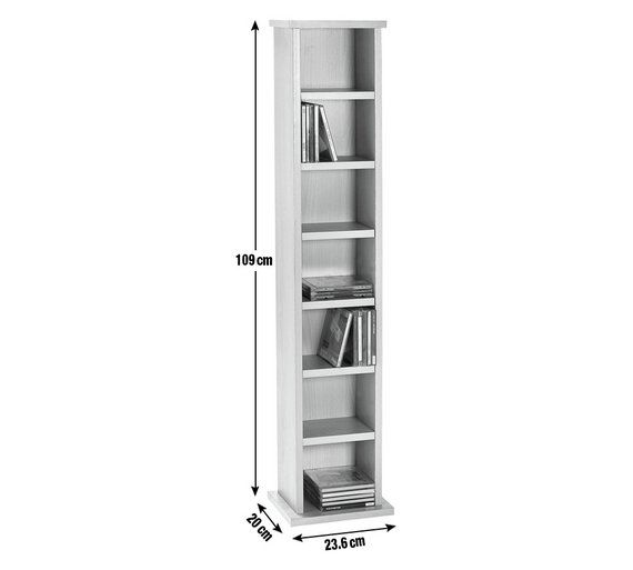 MDF FREE STANDING HOME 90 CDs 44 DVDs BLUE RAY MEDIA STORAGE SHELVING TOWER UNIT