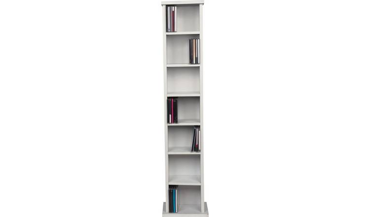 Argos Home Maine CD and DVD Media Storage -White Wood Effect