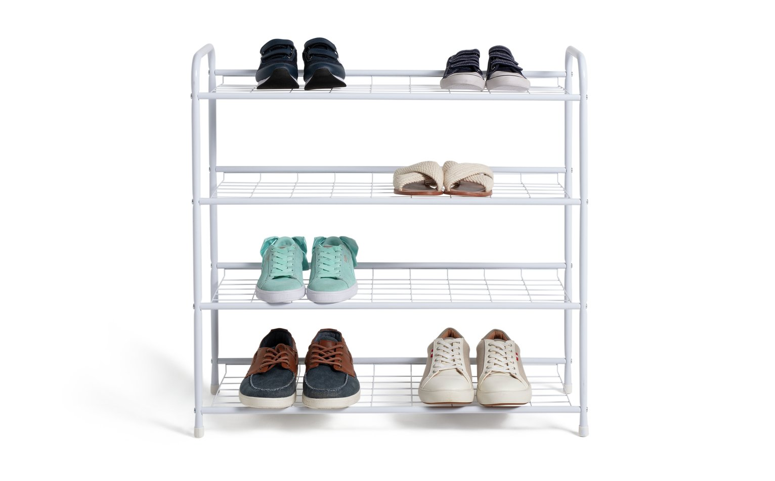 Argos Home 4 Shelf Shoe Storage Rack - White