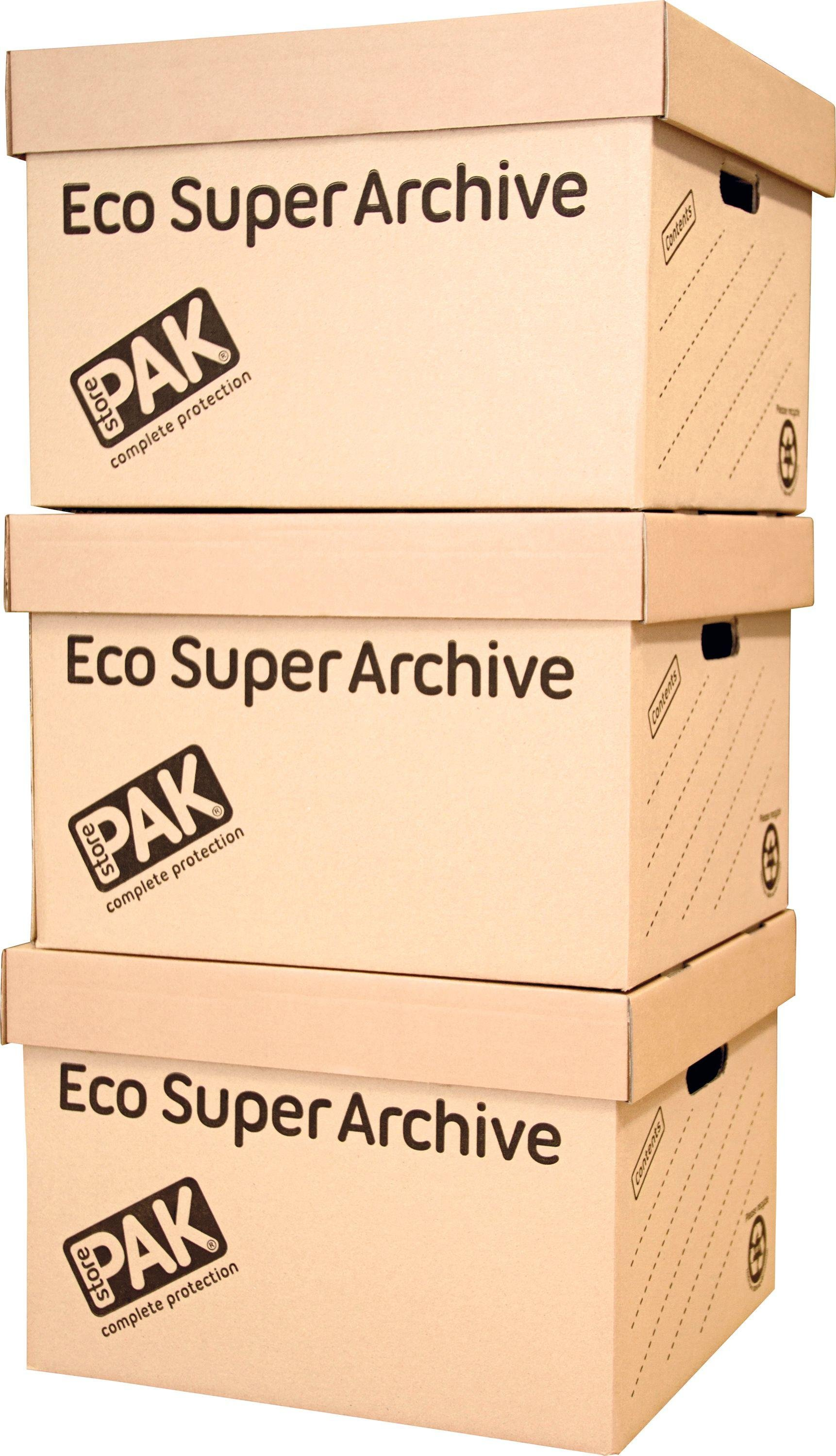 Image of StorePAK Ecohome Super Archive Storage Boxes - Set of 3