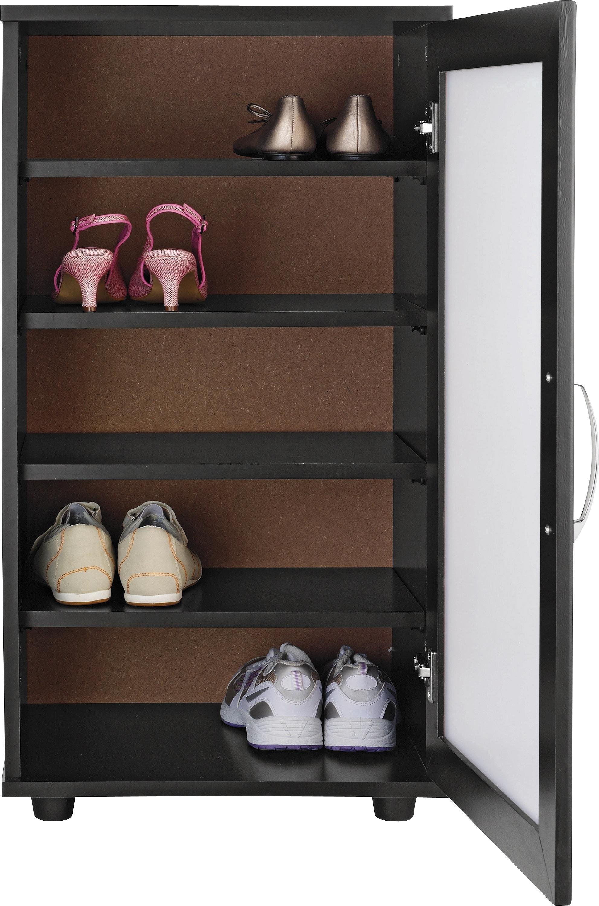 Argos Home Contemporary Shoe Storage Cabinet - Black
