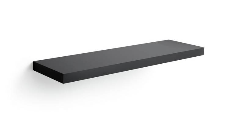 Habitat Jak 80cm Floating Shelf - High Black Gloss